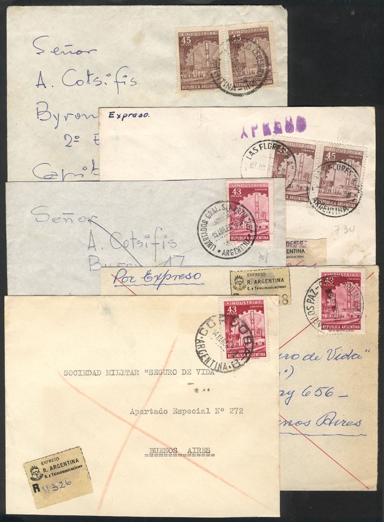 Lot 2060 - Argentina postal history -  Guillermo Jalil - Philatino Auction # 2122 ARGENTINA: