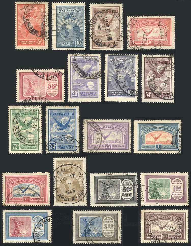 Lot 1477 - Argentina airmail -  Guillermo Jalil - Philatino Auction # 2122 ARGENTINA: