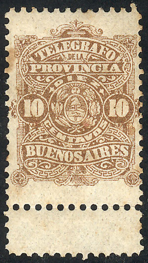 Lot 1855 - Argentina telegraph stamps -  Guillermo Jalil - Philatino Auction # 2122 ARGENTINA: