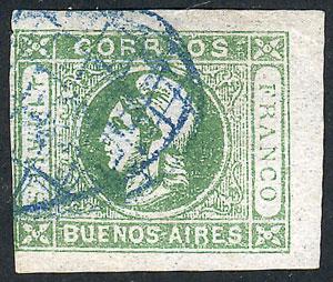 Lot 40 - Argentina cabecitas -  Guillermo Jalil - Philatino Auction # 2122 ARGENTINA: