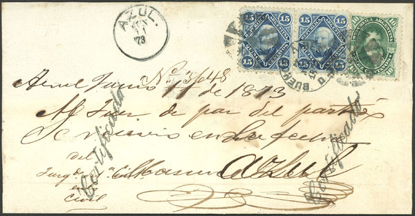 Lot 133 - Argentina postal history -  Guillermo Jalil - Philatino Auction # 2123 ARGENTINA: Special July auction!
