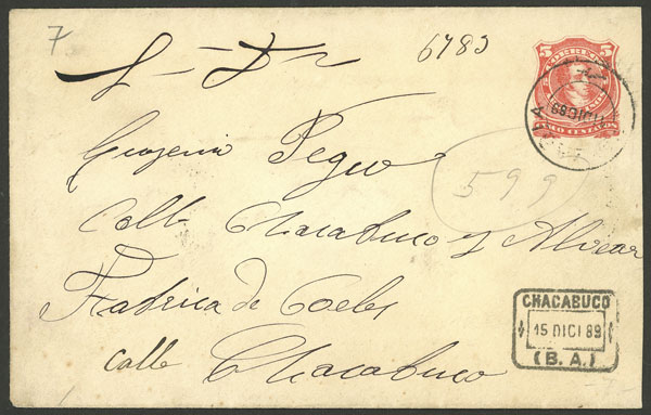 Lot 144 - Argentina postal history -  Guillermo Jalil - Philatino Auction # 2123 ARGENTINA: Special July auction!