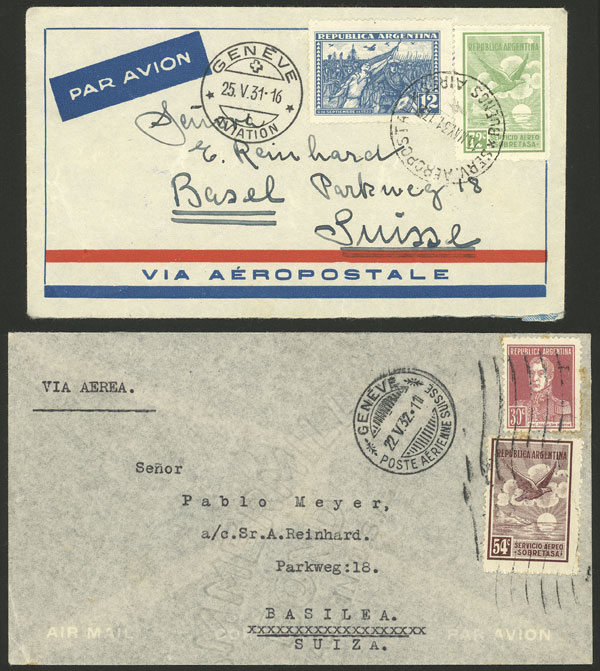 Lot 155 - Argentina postal history -  Guillermo Jalil - Philatino Auction # 2123 ARGENTINA: Special July auction!