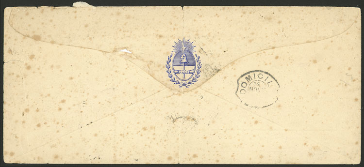 Lot 123 - Argentina OFFICIALS - POSTAL HISTORY -  Guillermo Jalil - Philatino Auction # 2123 ARGENTINA: Special July auction!