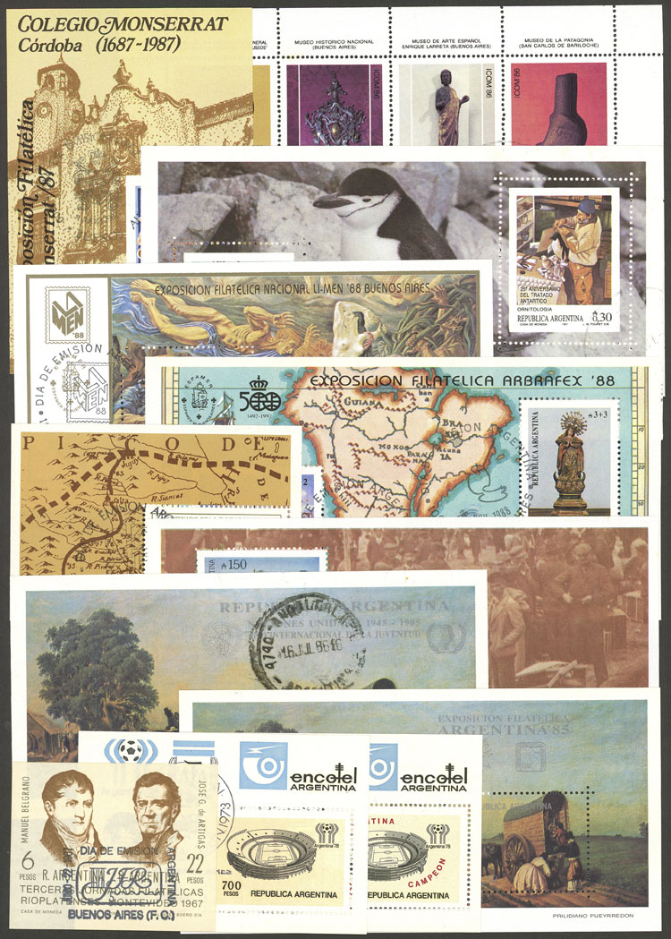 Lot 1479 - Argentina Lots and Collections -  Guillermo Jalil - Philatino Auction # 2124 ARGENTINA: very attractive auction