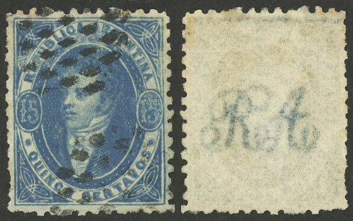 Lot 53 - Argentina rivadavias -  Guillermo Jalil - Philatino Auction # 2124 ARGENTINA: very attractive auction