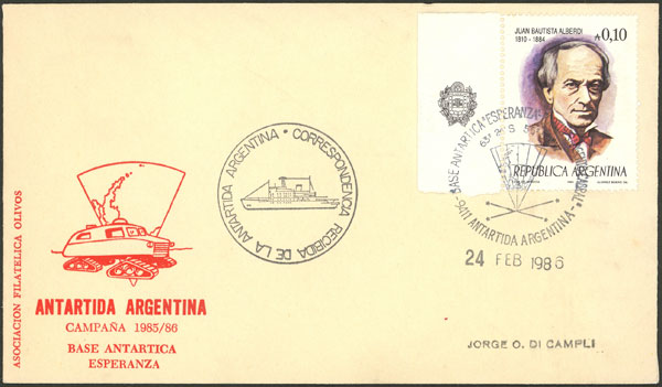 Lot 6 - argentine antarctica postal history -  Guillermo Jalil - Philatino Auction # 2124 ARGENTINA: very attractive auction