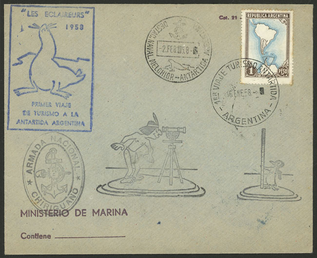 Lot 4 - argentine antarctica postal history -  Guillermo Jalil - Philatino Auction # 2124 ARGENTINA: very attractive auction