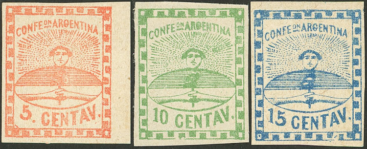 Lot 21 - Argentina confederation -  Guillermo Jalil - Philatino Auction # 2124 ARGENTINA: very attractive auction