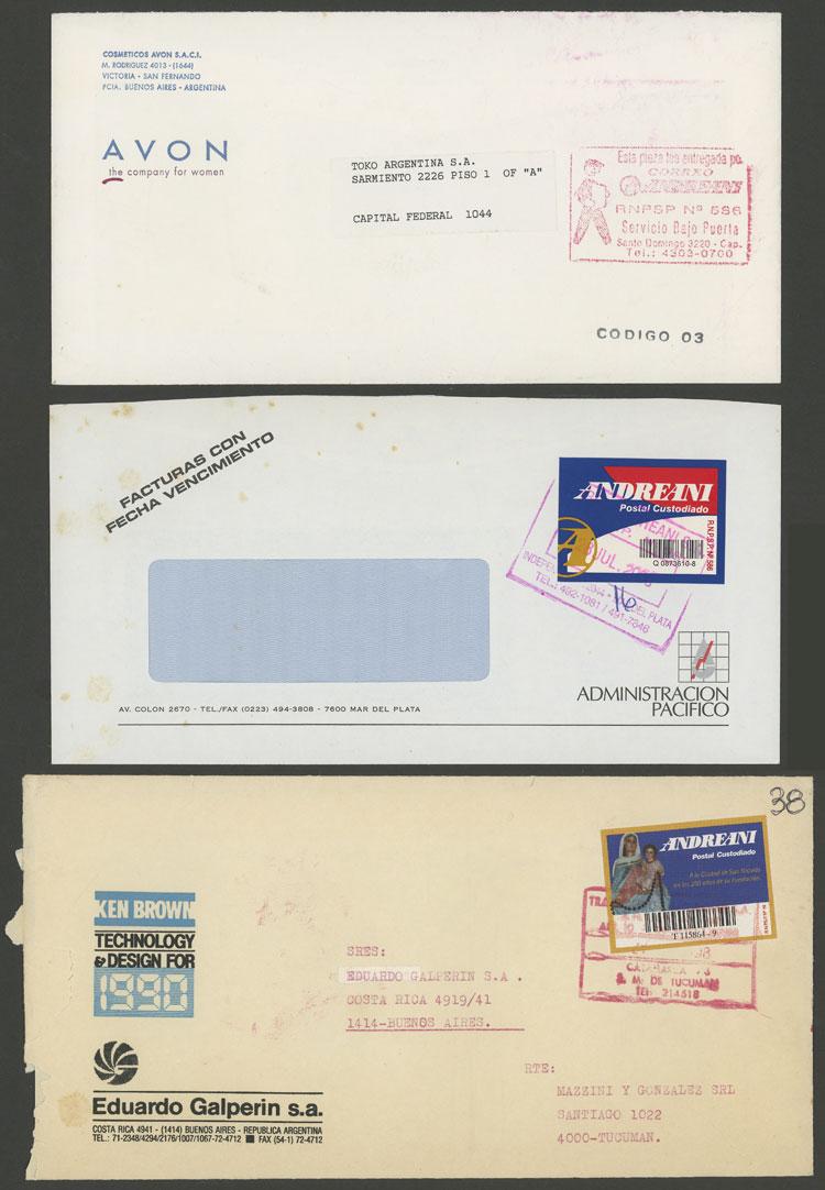 Lot 1466 - Argentina private posts -  Guillermo Jalil - Philatino Auction # 2124 ARGENTINA: very attractive auction