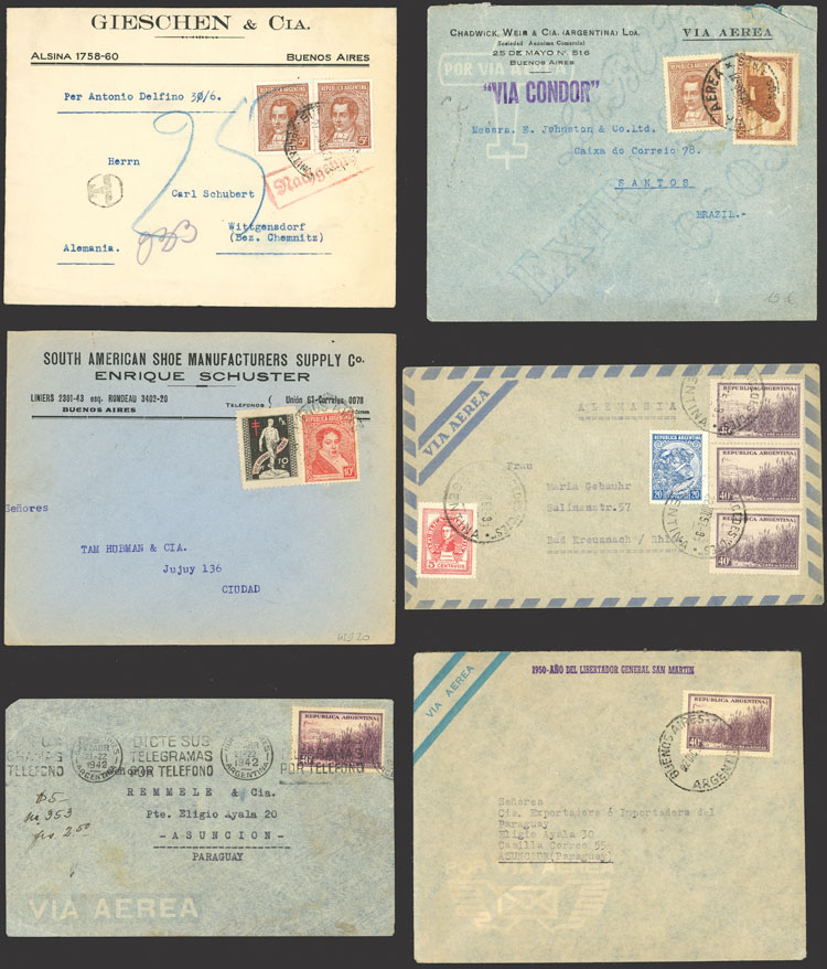 Lot 1350 - Argentina postal history -  Guillermo Jalil - Philatino Auction # 2124 ARGENTINA: very attractive auction