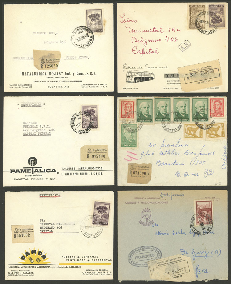Lot 1400 - Argentina postal history -  Guillermo Jalil - Philatino Auction # 2124 ARGENTINA: very attractive auction
