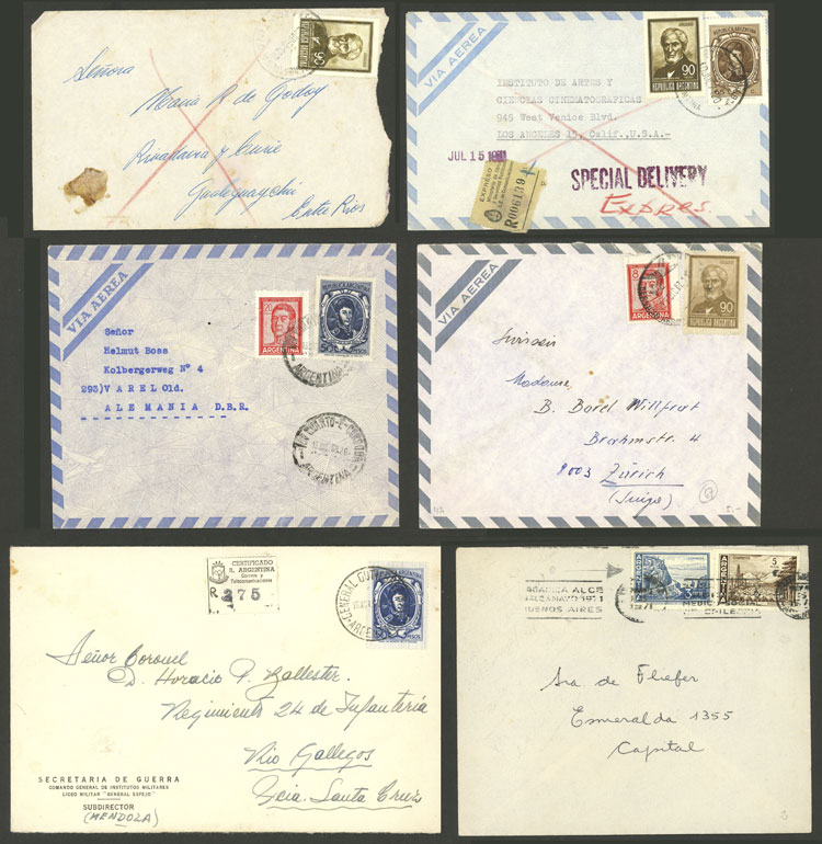 Lot 1404 - Argentina postal history -  Guillermo Jalil - Philatino Auction # 2124 ARGENTINA: very attractive auction