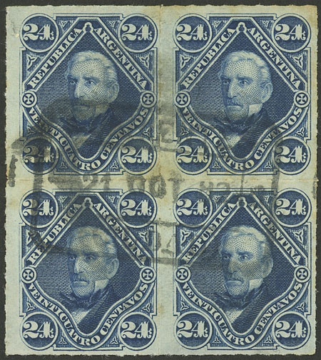 Lot 13 - Argentina general issues -  Guillermo Jalil - Philatino Auction # 2126 ARGENTINA: July sell-off auction: 120 lots with VERY LOW STARTS