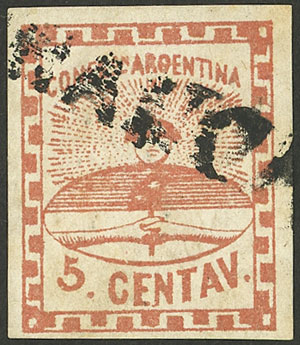 Lot 3 - Argentina confederation -  Guillermo Jalil - Philatino Auction # 2126 ARGENTINA: July sell-off auction: 120 lots with VERY LOW STARTS