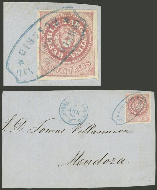 Lot 4 - Argentina escuditos -  Guillermo Jalil - Philatino Auction # 2126 ARGENTINA: July sell-off auction: 120 lots with VERY LOW STARTS