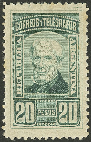 Lot 22 - Argentina general issues -  Guillermo Jalil - Philatino Auction # 2126 ARGENTINA: July sell-off auction: 120 lots with VERY LOW STARTS