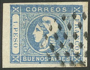 Lot 6 - Argentina cabecitas -  Guillermo Jalil - Philatino Auction # 2127 ARGENTINA. Small auction of late July