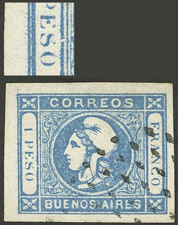 Lot 13 - Argentina cabecitas -  Guillermo Jalil - Philatino Auction # 2127 ARGENTINA. Small auction of late July