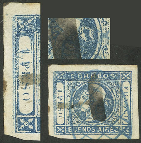Lot 11 - Argentina cabecitas -  Guillermo Jalil - Philatino Auction # 2127 ARGENTINA. Small auction of late July