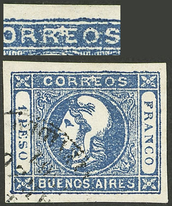 Lot 15 - Argentina cabecitas -  Guillermo Jalil - Philatino Auction # 2127 ARGENTINA. Small auction of late July
