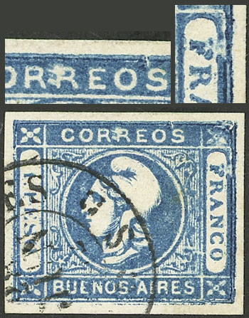 Lot 16 - Argentina cabecitas -  Guillermo Jalil - Philatino Auction # 2127 ARGENTINA. Small auction of late July