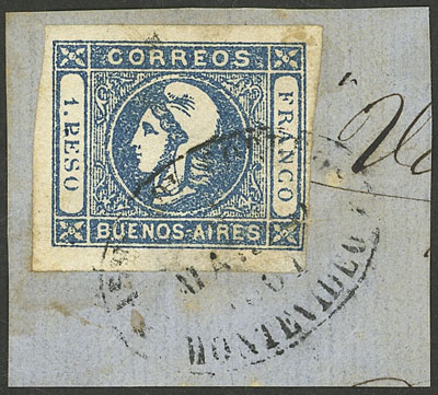 Lot 7 - Argentina cabecitas -  Guillermo Jalil - Philatino Auction # 2127 ARGENTINA. Small auction of late July