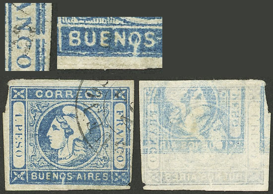 Lot 12 - Argentina cabecitas -  Guillermo Jalil - Philatino Auction # 2127 ARGENTINA. Small auction of late July