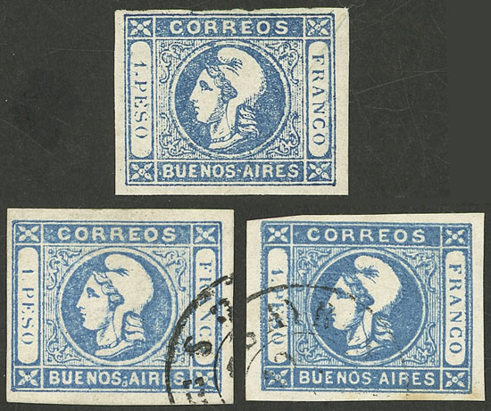 Lot 8 - Argentina cabecitas -  Guillermo Jalil - Philatino Auction # 2127 ARGENTINA. Small auction of late July