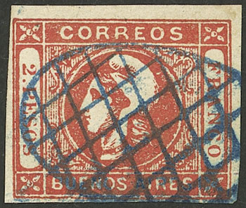 Lot 18 - Argentina cabecitas -  Guillermo Jalil - Philatino Auction # 2127 ARGENTINA. Small auction of late July