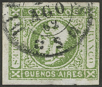 Lot 5 - Argentina cabecitas -  Guillermo Jalil - Philatino Auction # 2127 ARGENTINA. Small auction of late July