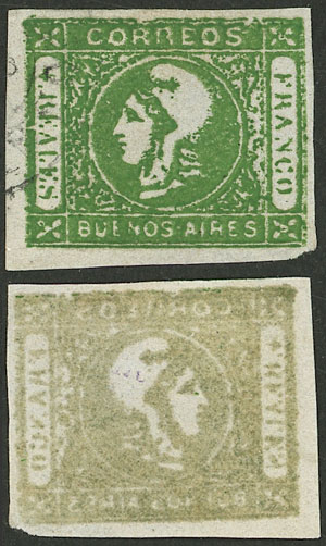 Lot 4 - Argentina cabecitas -  Guillermo Jalil - Philatino Auction # 2127 ARGENTINA. Small auction of late July