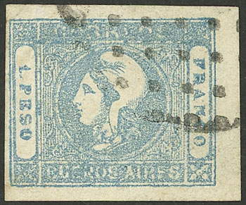 Lot 10 - Argentina cabecitas -  Guillermo Jalil - Philatino Auction # 2127 ARGENTINA. Small auction of late July