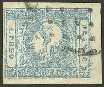 Lot 17 - Argentina cabecitas -  Guillermo Jalil - Philatino Auction # 2127 ARGENTINA. Small auction of late July