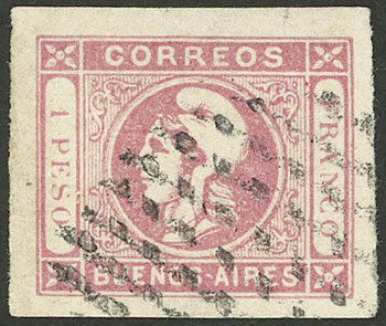 Lot 19 - Argentina cabecitas -  Guillermo Jalil - Philatino Auction # 2127 ARGENTINA. Small auction of late July
