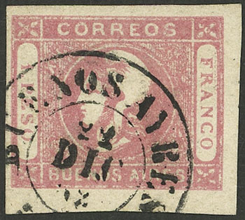 Lot 21 - Argentina cabecitas -  Guillermo Jalil - Philatino Auction # 2127 ARGENTINA. Small auction of late July