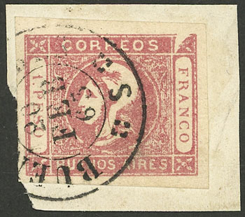 Lot 22 - Argentina cabecitas -  Guillermo Jalil - Philatino Auction # 2127 ARGENTINA. Small auction of late July