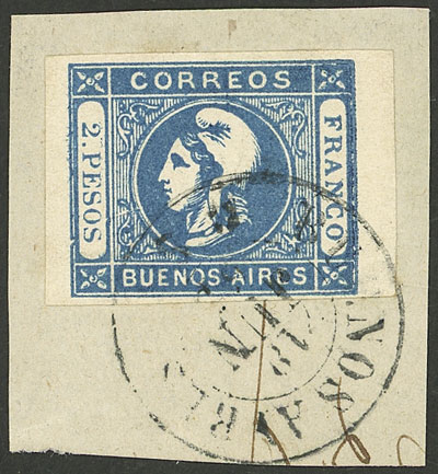 Lot 20 - Argentina cabecitas -  Guillermo Jalil - Philatino Auction # 2127 ARGENTINA. Small auction of late July