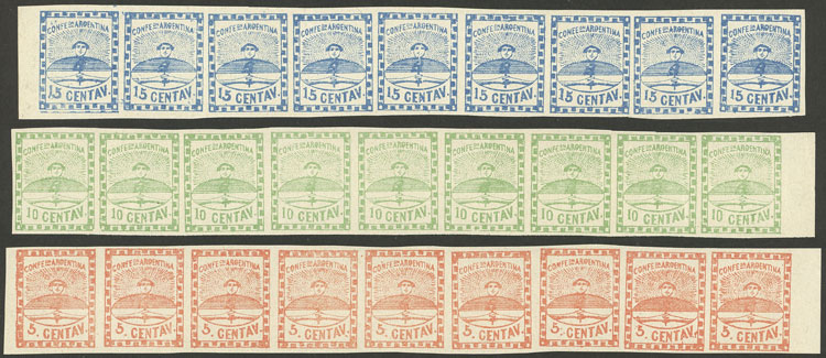 Lot 41 - Argentina confederation -  Guillermo Jalil - Philatino Auction # 2127 ARGENTINA. Small auction of late July