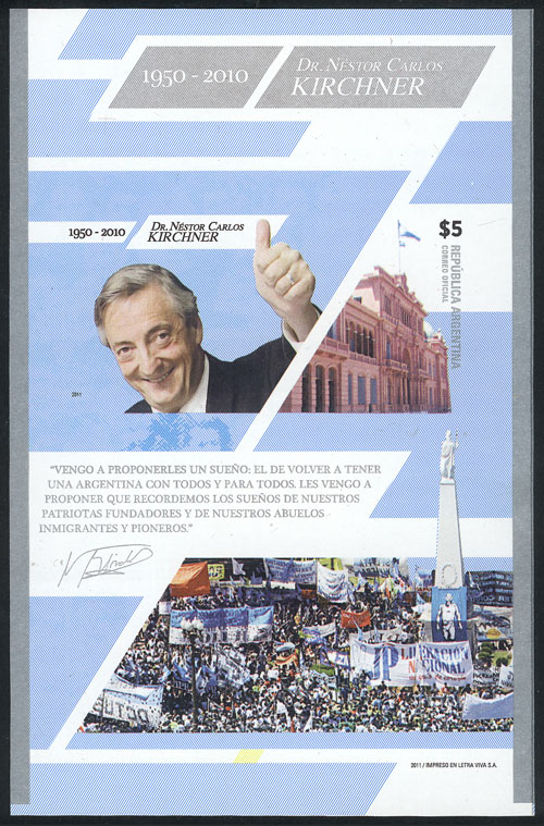 Lot 1620 - Argentina souvenir sheets -  Guillermo Jalil - Philatino Auction # 2128 ARGENTINA: 'Clearance' auction with very low starts and many interesting lots!