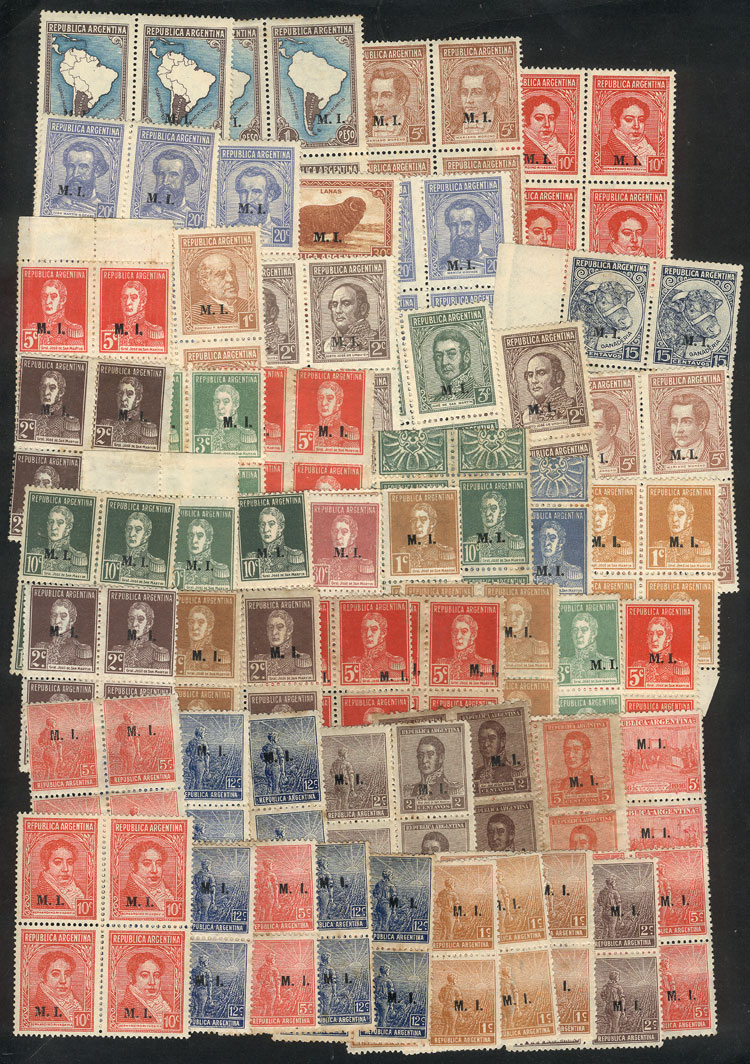 Lot 1931 - Argentina official stamps -  Guillermo Jalil - Philatino Auction # 2128 ARGENTINA: 'Clearance' auction with very low starts and many interesting lots!