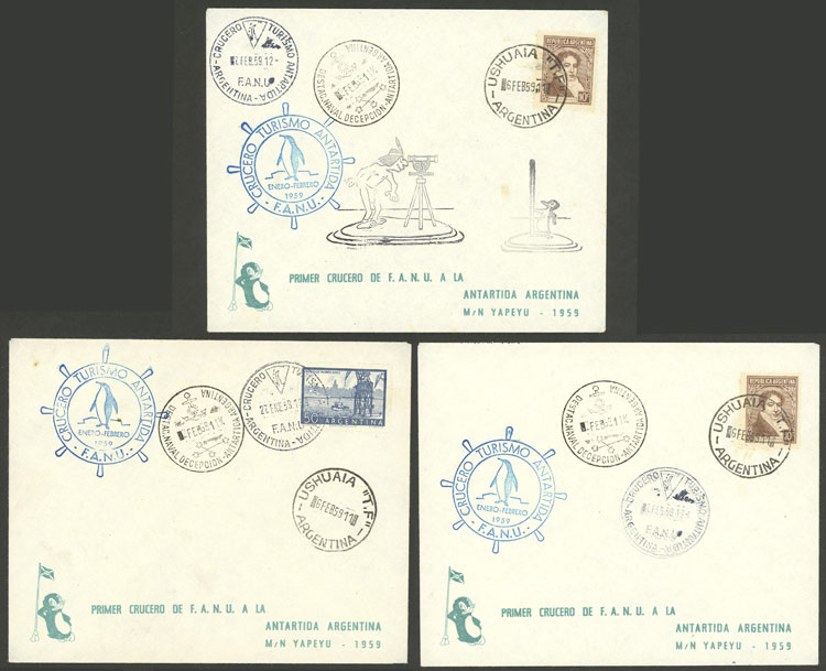 Lot 12 - argentine antarctica postal history -  Guillermo Jalil - Philatino Auction # 2128 ARGENTINA: 'Clearance' auction with very low starts and many interesting lots!