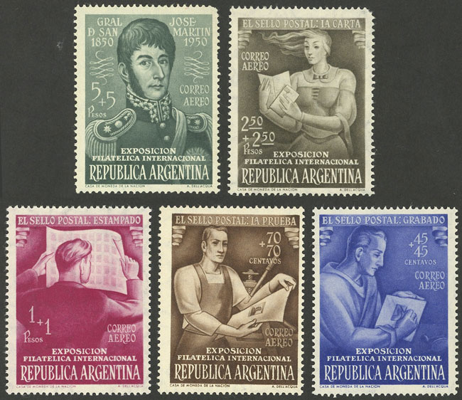Lot 931 - Argentina general issues -  Guillermo Jalil - Philatino Auction # 2128 ARGENTINA: 'Clearance' auction with very low starts and many interesting lots!