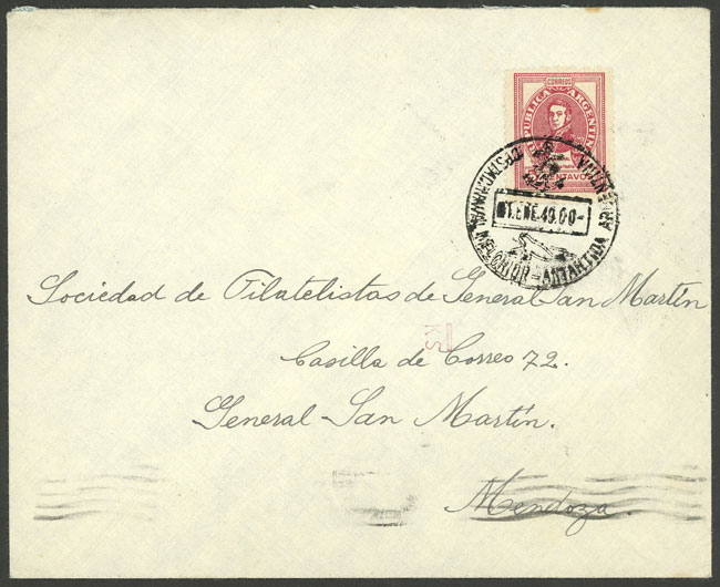 Lot 6 - argentine antarctica postal history -  Guillermo Jalil - Philatino Auction # 2128 ARGENTINA: 'Clearance' auction with very low starts and many interesting lots!