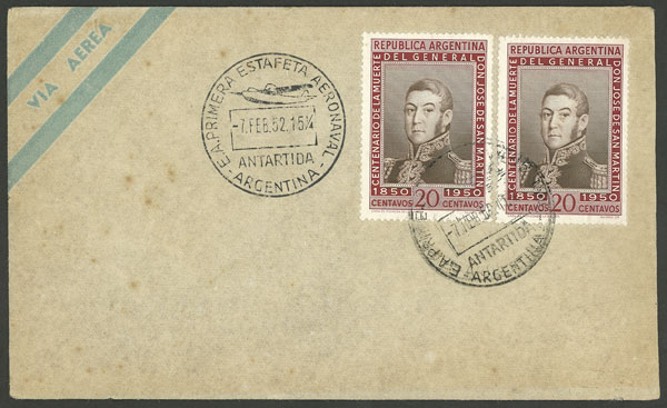 Lot 8 - argentine antarctica postal history -  Guillermo Jalil - Philatino Auction # 2128 ARGENTINA: 'Clearance' auction with very low starts and many interesting lots!