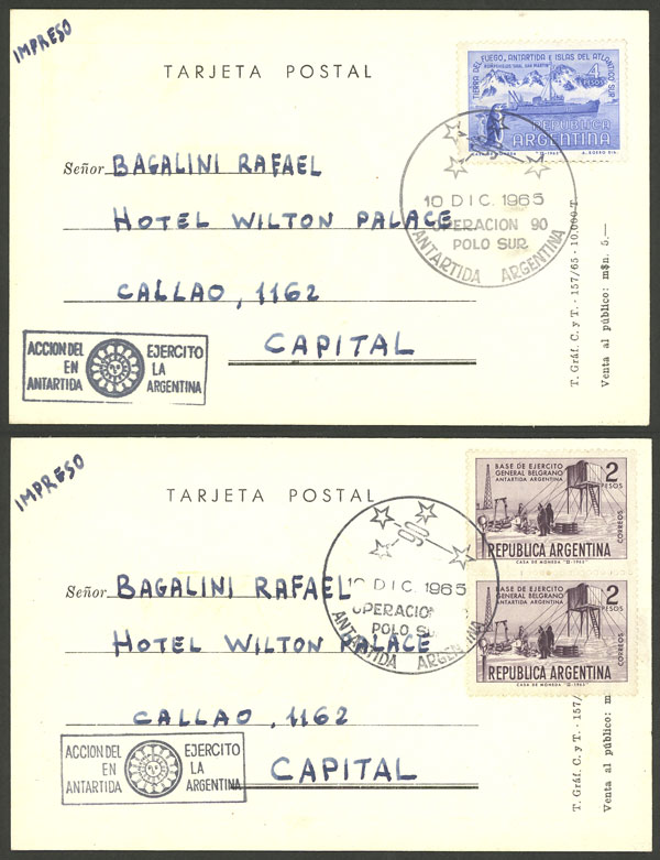Lot 19 - argentine antarctica postal history -  Guillermo Jalil - Philatino Auction # 2128 ARGENTINA: 'Clearance' auction with very low starts and many interesting lots!