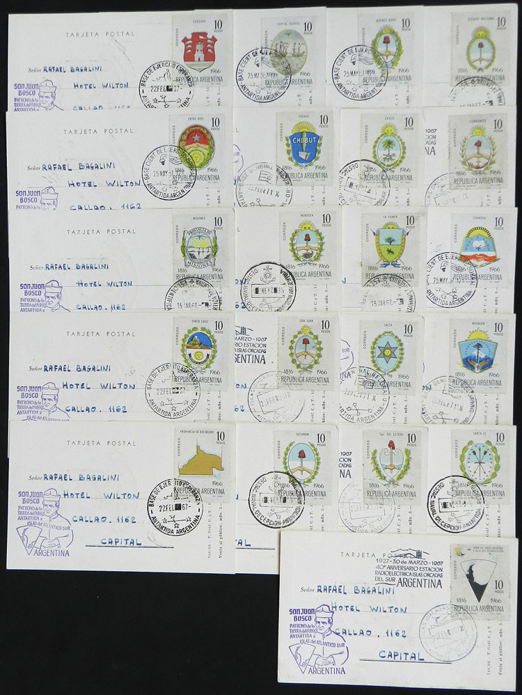Lot 20 - argentine antarctica postal history -  Guillermo Jalil - Philatino Auction # 2128 ARGENTINA: 'Clearance' auction with very low starts and many interesting lots!