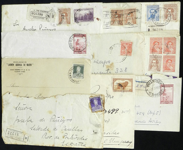 Lot 2075 - Argentina postal history -  Guillermo Jalil - Philatino Auction # 2128 ARGENTINA: 'Clearance' auction with very low starts and many interesting lots!