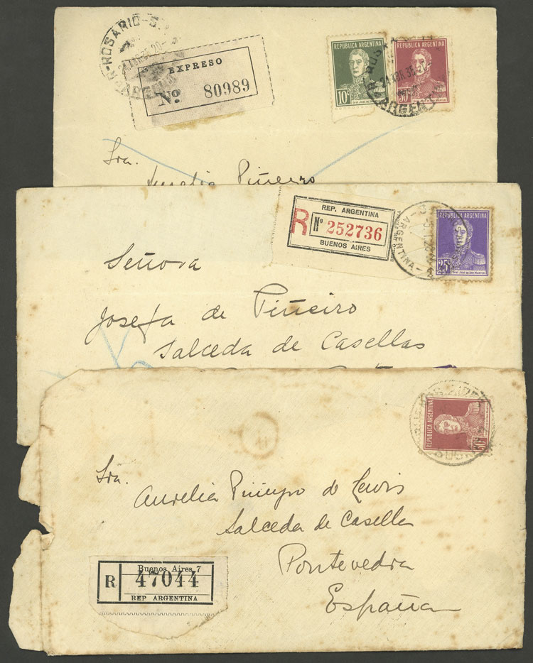 Lot 2071 - Argentina postal history -  Guillermo Jalil - Philatino Auction # 2128 ARGENTINA: 'Clearance' auction with very low starts and many interesting lots!