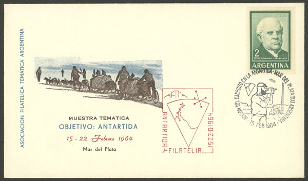 Lot 16 - argentine antarctica postal history -  Guillermo Jalil - Philatino Auction # 2128 ARGENTINA: 'Clearance' auction with very low starts and many interesting lots!